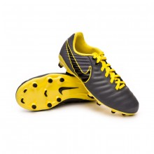 Football Boots Kids Tiempo Legend VII Academy MG Dark grey-Black-Optical yellow