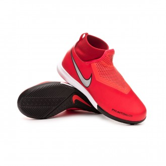 Futsal Boot  Nike Phantom Vision Academy DF IC Niño Bright crimson-Metallic silver