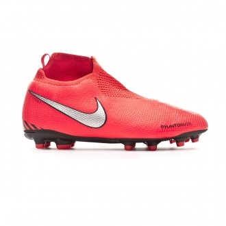 Bota  Nike Phantom Vision Elite DF FG/MG Niño Bright crimson-Metallic silver