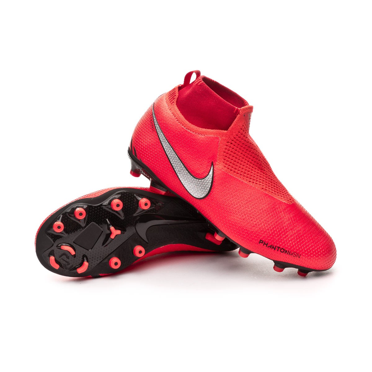 247e1236d Football Boots Nike Kids Phantom Vision Elite DF FG MG Bright ...