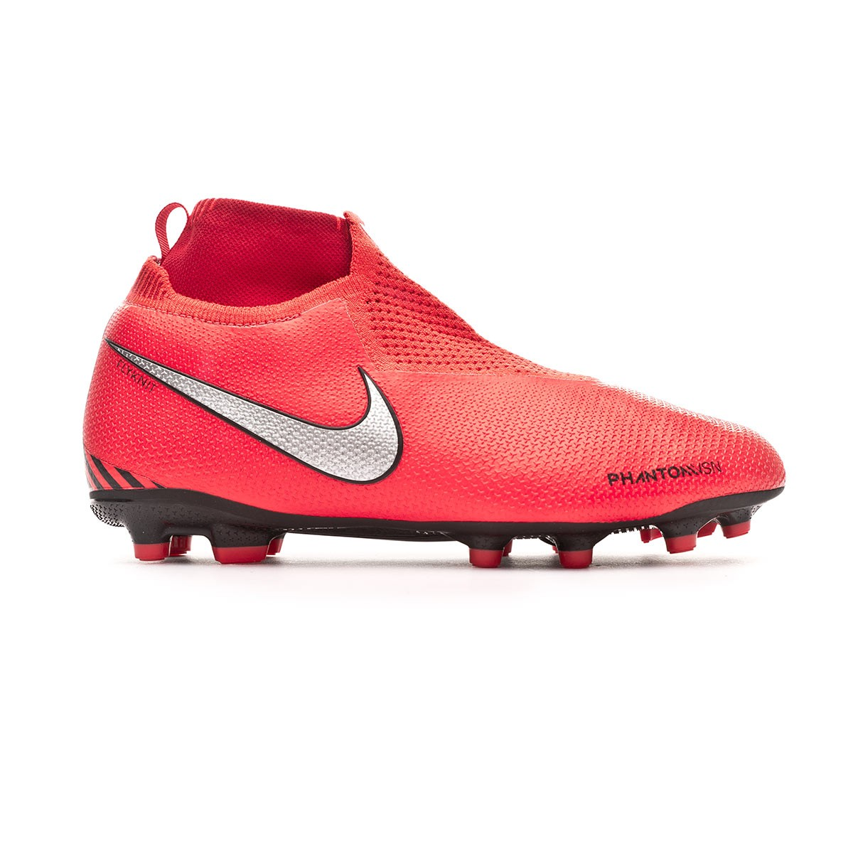 31bf7f45a Football Boots Nike Kids Phantom Vision Elite DF FG MG Bright  crimson-Metallic silver - Football store Fútbol Emotion