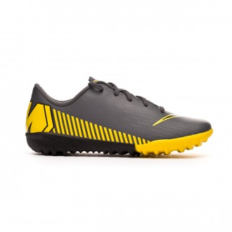 Football Boot  Nike Kids Mercurial VaporX XII Academy Turf  Dark grey-Black-Optical yellow