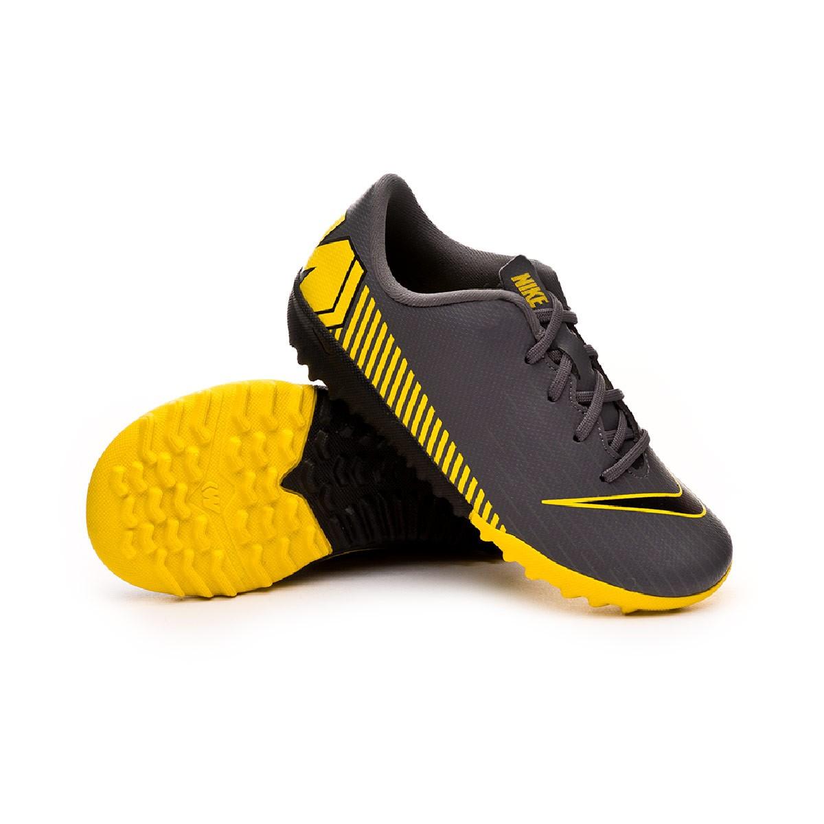b20c8ea53a92 Football Boot Nike Kids Mercurial VaporX XII Academy Turf Dark grey-Black-Optical  yellow - Football store Fútbol Emotion