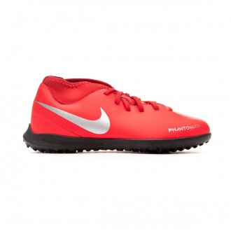 Zapatilla  Nike Phantom Vision Club DF Turf Niño Bright crimson-Metallic silver