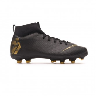Bota  Nike Mercurial Superfly VI Academy MG Niño Black-Metallic vivid gold