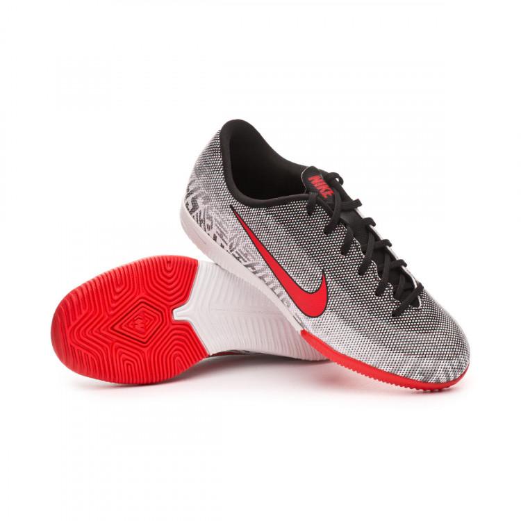 8594661d48a Zapatilla Nike Mercurial VaporX XII Academy Neymar Jr IC Niño White ...