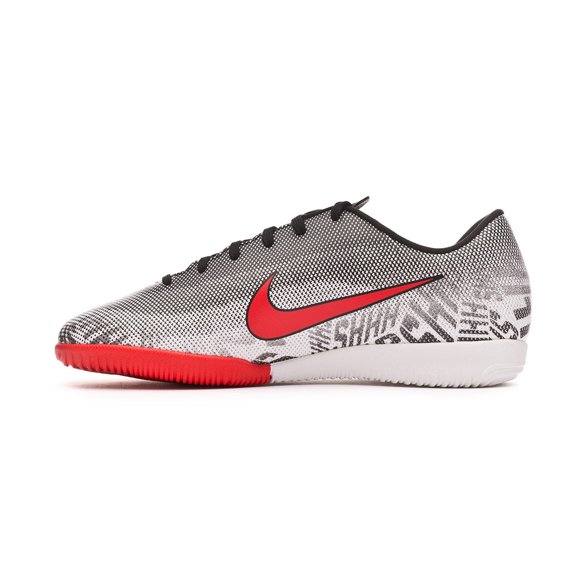 e857b49cd9b Futsal Boot Nike Mercurial VaporX XII Academy Neymar Jr IC Niño White- Challenge red-Black - Football store Fútbol Emotion