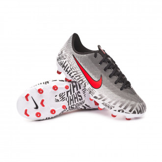 Chaussure de foot  Nike Mercurial Vapor XII Academy MG Niño White-Challenge red-Black