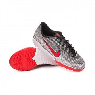 Zapatilla  Nike Mercurial VaporX XII Academy Neymar Jr Turf Niño White-Challenge red-Black