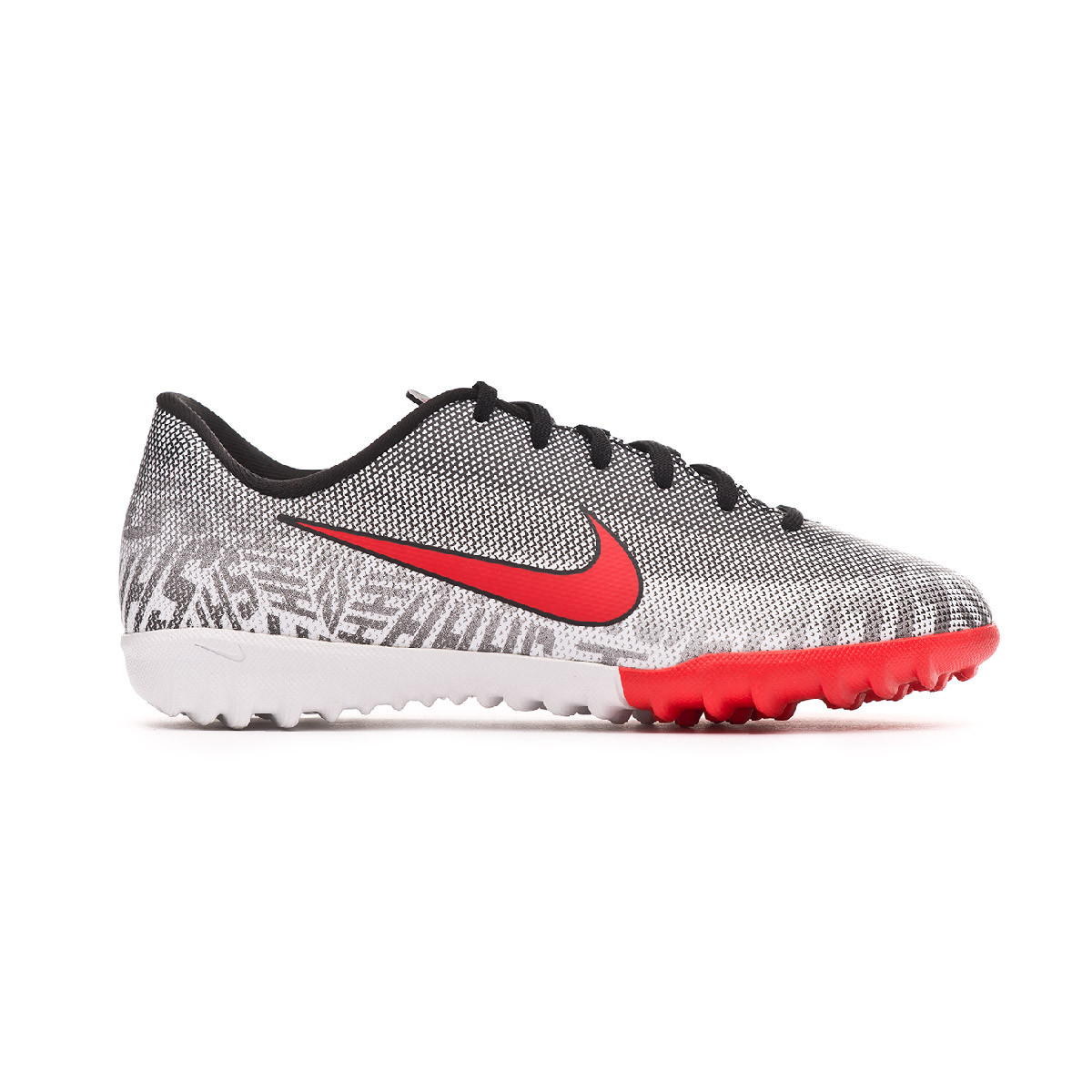 Scarpe Nike Mercurial VaporX XII Academy Neymar Jr Turf Niño  White-Challenge red-Black - Negozio di calcio Fútbol Emotion cb5b5c406bf
