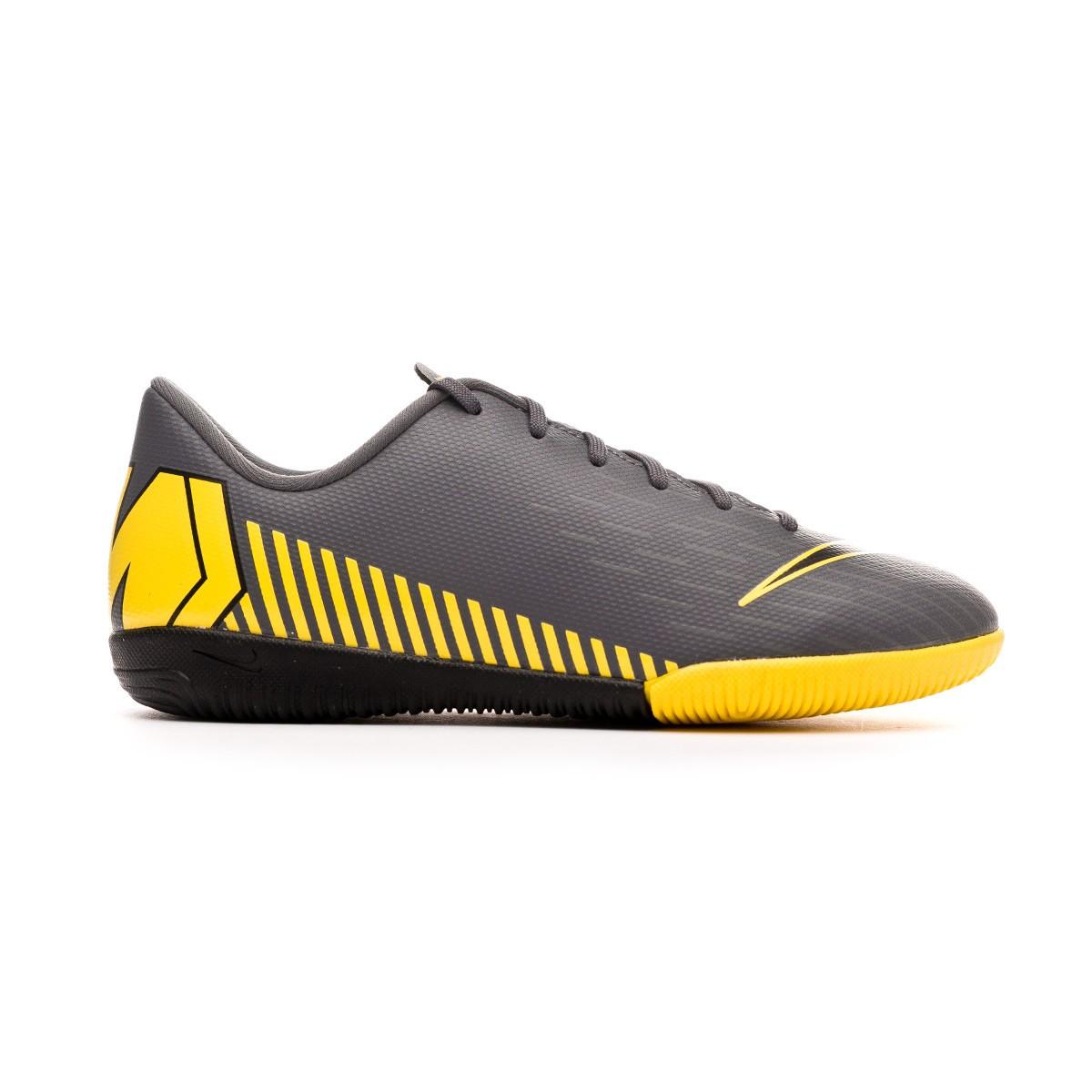 240c7357a83044 Futsal Boot Nike Kids Mercurial VaporX XII Academy IC Dark  grey-Black-Optical yellow - Tienda de fútbol Fútbol Emotion