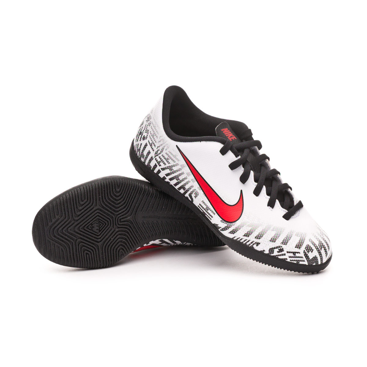 brand new 7487d 077a6 Zapatilla Mercurial Vapor XII Club Neymar Jr IC Niño White-Challenge  red-Black