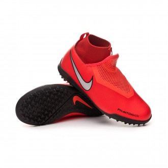 Football Boot  Nike Phantom Vision Academy DF Turf Niño Bright crimson-Metallic silver
