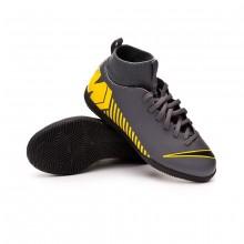 Scarpe Mercurial SuperflyX VI Club IC Junior Dark grey-Black-Optical yellow