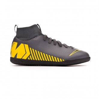 Futsal Boot  Nike Kids Mercurial SuperflyX VI Club IC  Dark grey-Black-Optical yellow