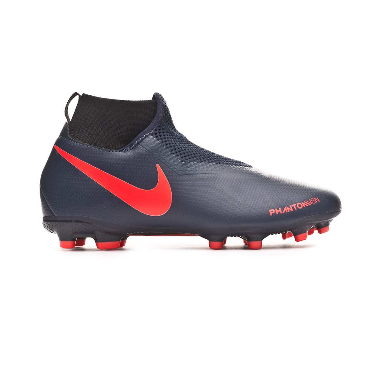 entrada Novia madre  Football Boots Nike Kids Phantom Vision Academy DF FG/MG Obsidian-Bright  crimson-Black - Football store Fútbol Emotion