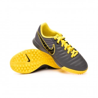Football Boot  Nike Tiempo LegendX VII Academy Turf  Dark grey-Black-Optical yellow