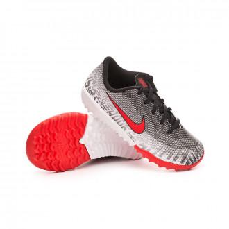 Zapatilla Nike Mercurial VaporX XII Academy Neymar Jr Turf Niño  White-Challenge red-Black c500f1cd050ec