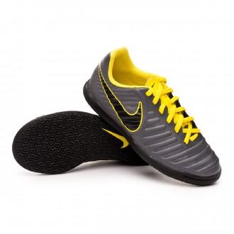 Futsal Boot  Nike Tiempo LegendX VII Club IC Niño Dark grey-Optical yellow-Black