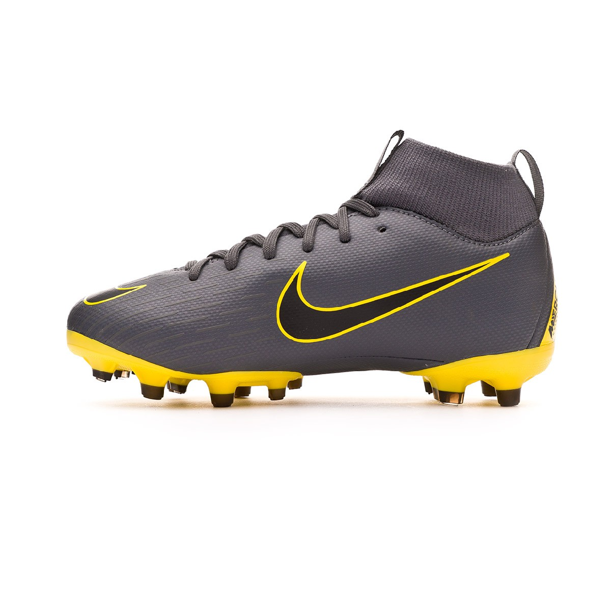 100% authentic fd833 7db79 Bota Mercurial Superfly VI Academy MG Niño Dark grey-Black