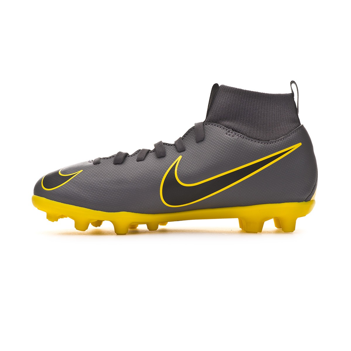 e1f5491727d Zapatos de fútbol Nike Mercurial Superfly VI Club MG Niño Dark  grey-Black-Optical yellow - Tienda de fútbol Fútbol Emotion