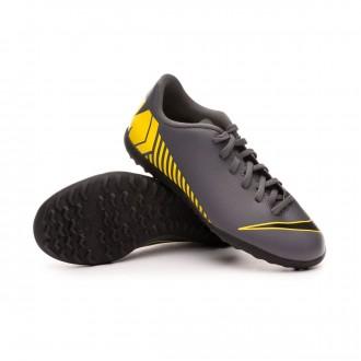 Football Boot  Nike Mercurial VaporX XII Club Turf Niño Dark grey-Black-Optical yellow