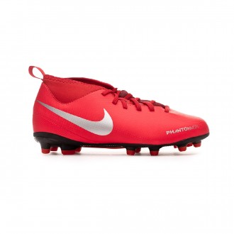 Bota  Nike Phantom Vision Club DF FG/MG Niño Bright crimson-Metallic silver