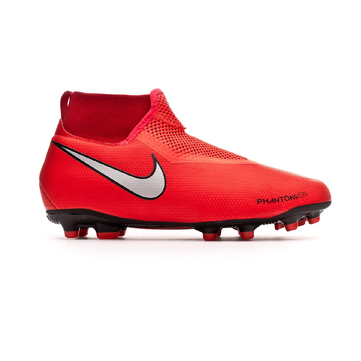 cd5a90d2996e6 Football Boots Nike Phantom Vision Academy DF FG MG Niño Bright  crimson-Metallic silver - Tienda de fútbol Fútbol Emotion