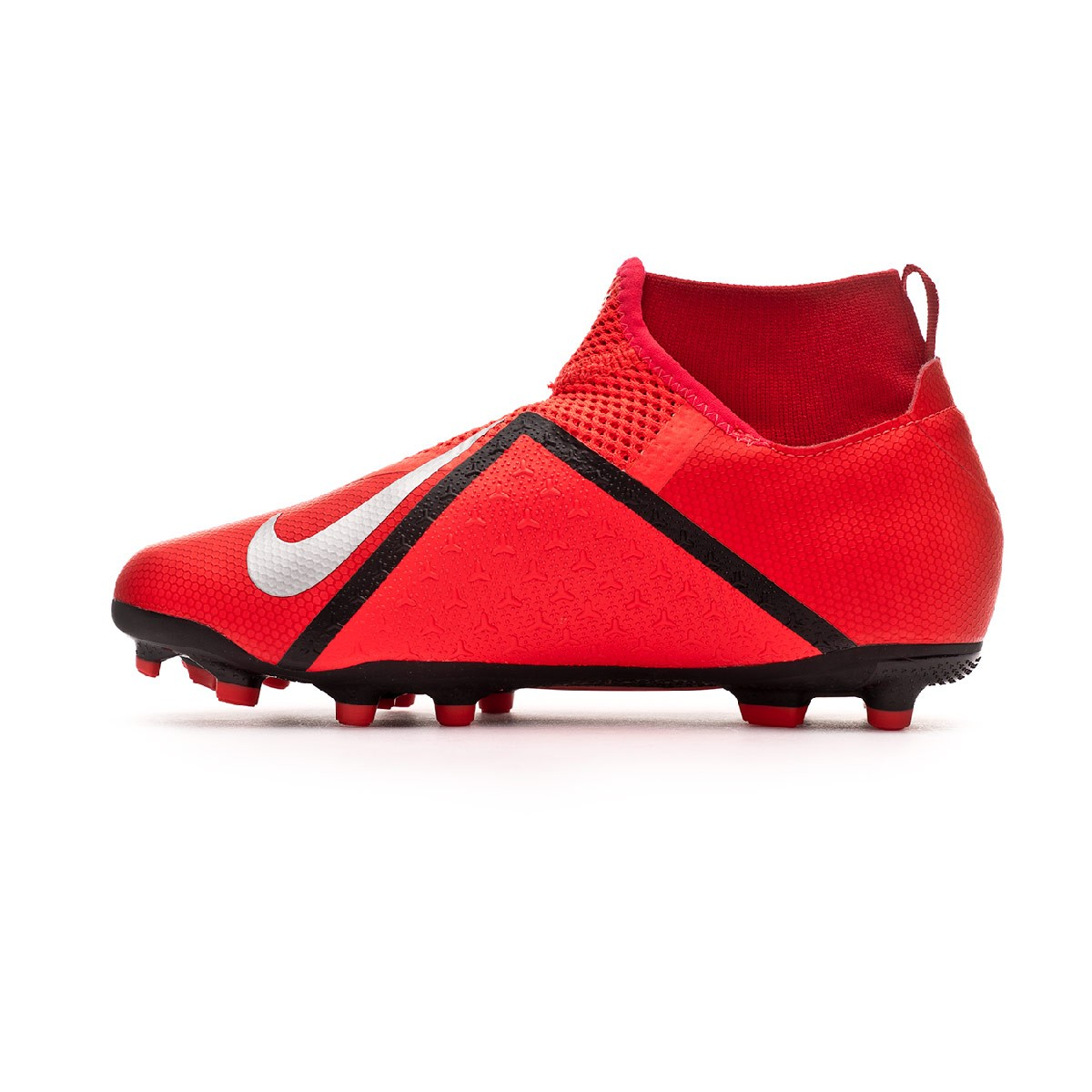 756346f6c Football Boots Nike Phantom Vision Academy DF FG MG Niño Bright  crimson-Metallic silver - Football store Fútbol Emotion