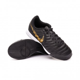 Futsal Boot  Nike Tiempo LegendX VII Academy IC Niño Black-Metallic vivid gold