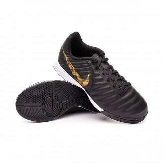 Chaussure de futsal  Nike Tiempo LegendX VII Academy IC enfant Black-Metallic vivid gold