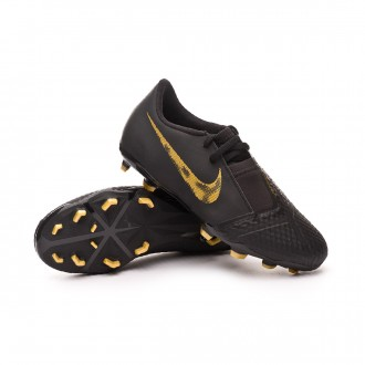 Chaussure de foot  Nike Phantom Venom Academy FG enfant Black-Metallic vivid gold