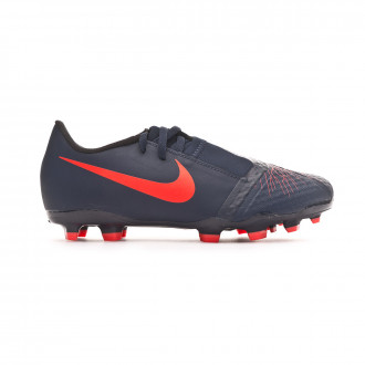 Football Boots  Nike Kids Phantom Venom Academy FG Obsidian-White-Black-Racer blue