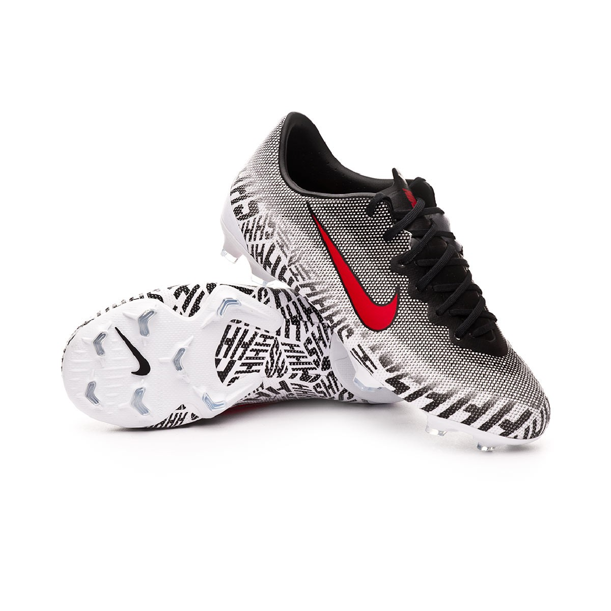 3dbff1f55 Football Boots Nike Kids Mercurial Vapor XII Elite Neymar Jr FG  White-Challenge red-Black - Football store Fútbol Emotion