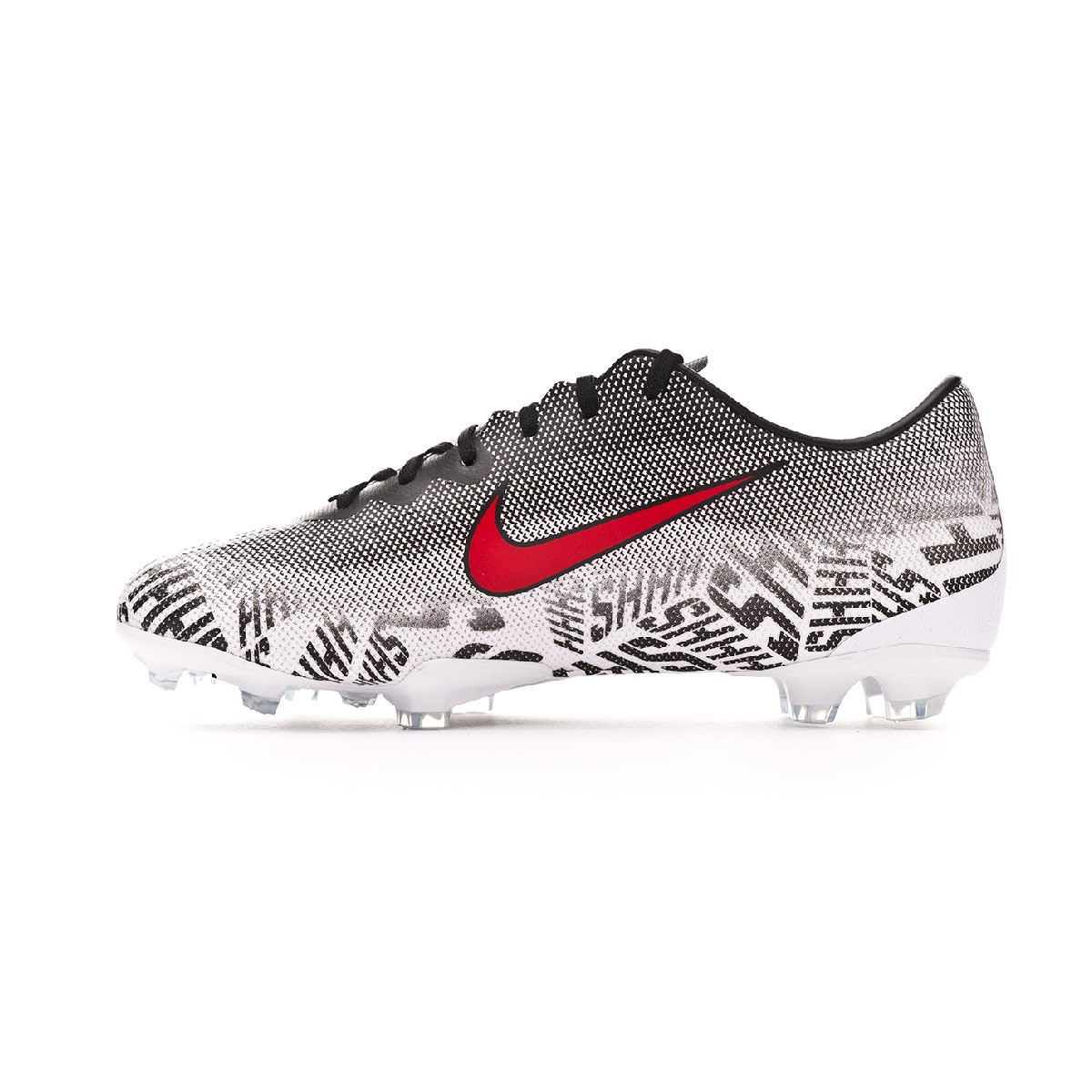 534fc1afc Football Boots Nike Kids Mercurial Vapor XII Elite Neymar Jr FG  White-Challenge red-Black - Tienda de fútbol Fútbol Emotion