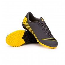 Zapatilla Mercurial VaporX XII Academy Turf NIño Dark grey-Black-Optical yellow