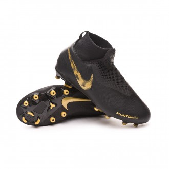 Chaussure de foot  Nike Phantom Vision Academy DF FG/MG enfant Black-Metallic vivid gold