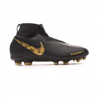 Bota  Nike Phantom Vision Academy DF FG/MG Niño Black-Metallic vivid gold