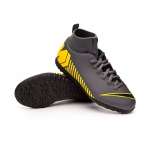 Zapatilla Mercurial SuperflyX VI Club Turf Niño Dark grey-Black-Optical yellow