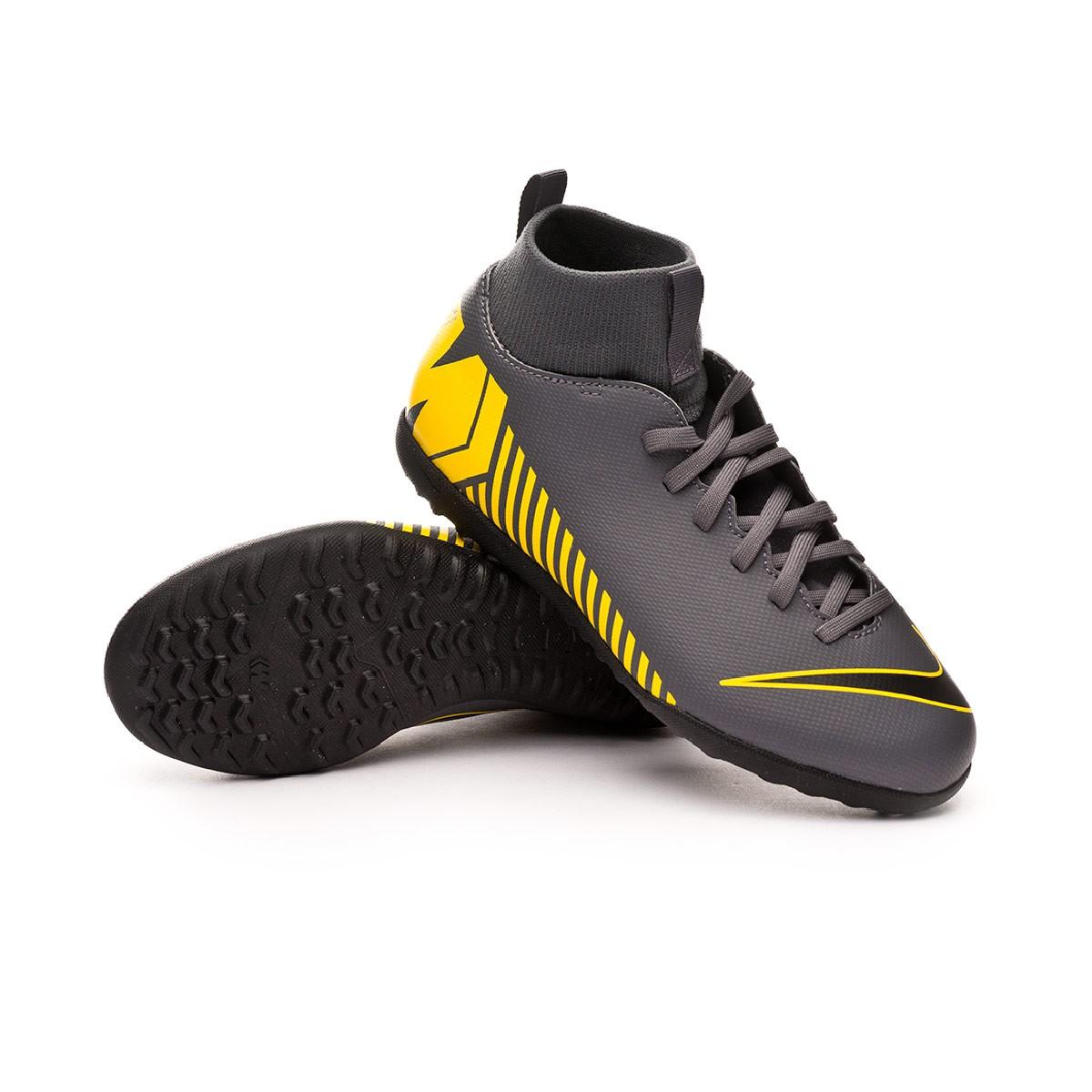 6543f1be91d0 Football Boot Nike Kids Mercurial SuperflyX VI Club Turf Dark grey ...