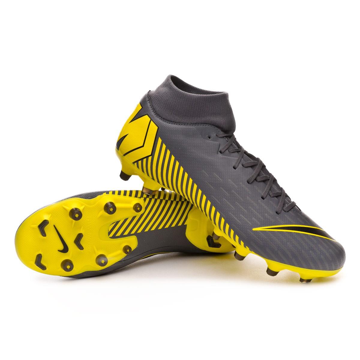 fd988fce1d2c Football Boots Nike Mercurial Superfly VI Academy MG Dark grey-Black ...