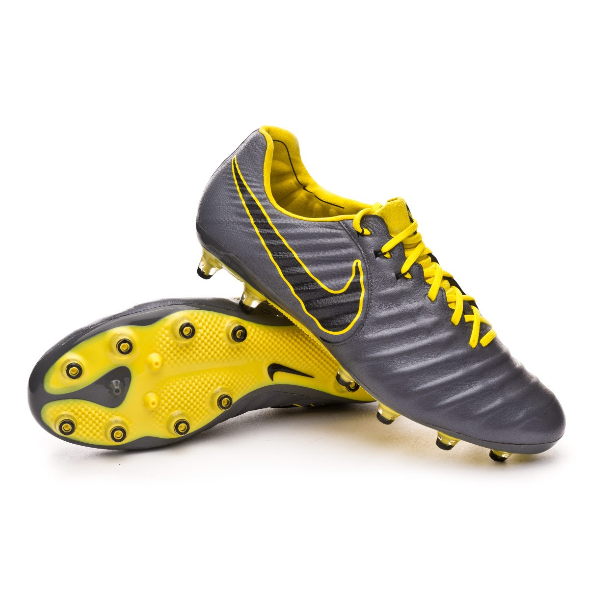 6ed101bc39d Football Boots Nike Tiempo Legend VII Elite AG-Pro Dark grey-Black-Optical  yellow - Football store Fútbol Emotion