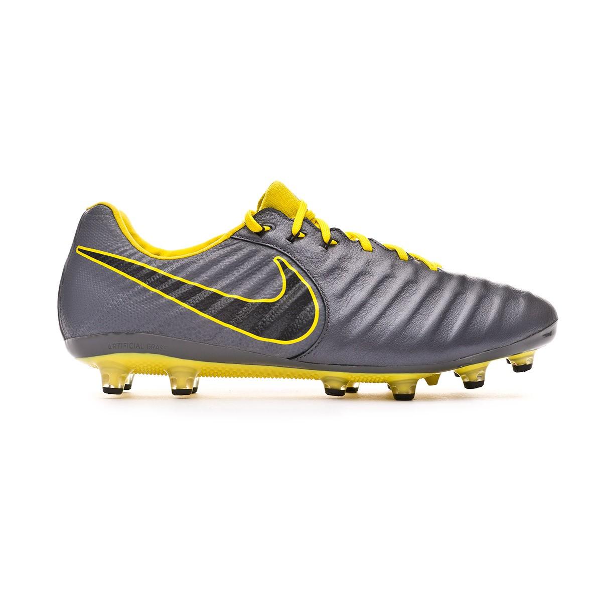 93fac367e88 Football Boots Nike Tiempo Legend VII Elite AG-Pro Dark grey-Black-Optical  yellow - Football store Fútbol Emotion