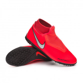Football Boot  Nike Phantom Vision Academy DF Turf Bright crimson-Metallic silver