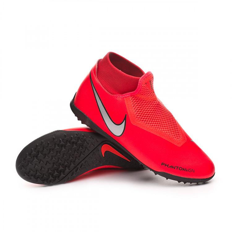 Football Boot Nike Phantom Vision Academy DF Turf Bright crimson ... 2139e3a08289e