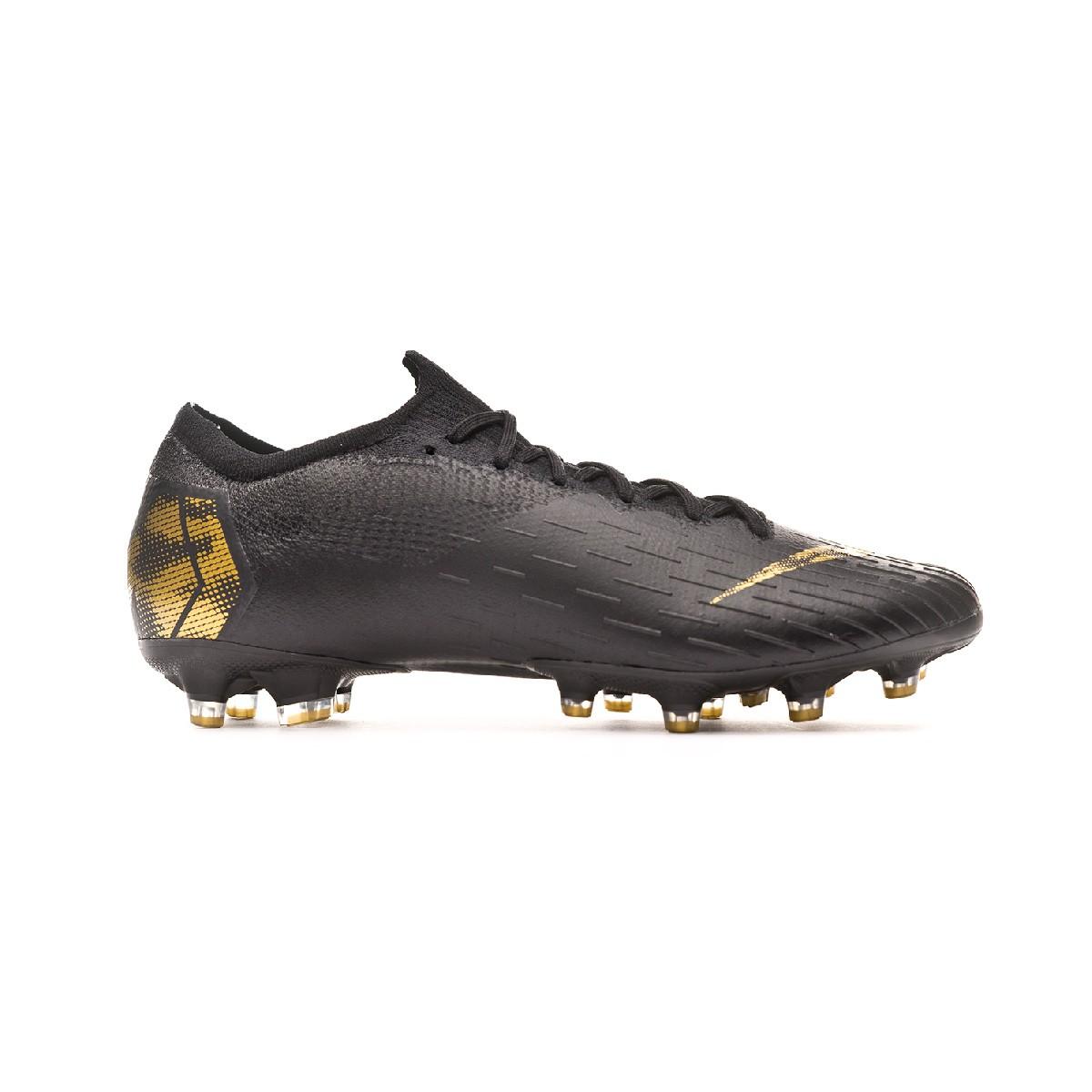 5e310351c81aa Football Boots Nike Mercurial Vapor XII Elite AG-Pro Black-Metallic vivid  gold - Tienda de fútbol Fútbol Emotion