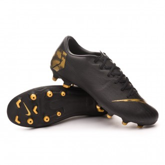 Chaussure de foot  Nike Mercurial Vapor XII Academy MG Black-Metallic vivid gold