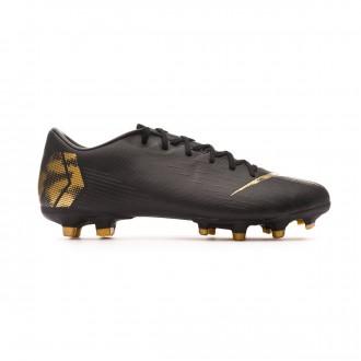 Chuteira Nike Mercurial Vapor XII Academy MG Black-Metallic vivid gold
