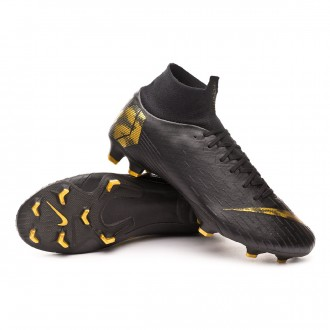 Chuteira  Nike Mercurial Superfly VI Pro FG Black-Metallic vivid gold