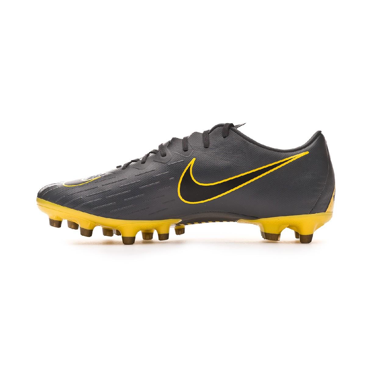 fafd536f52e8 Football Boots Nike Mercurial Vapor XII Pro AG-Pro Dark grey-Black-Optical  yellow - Football store Fútbol Emotion